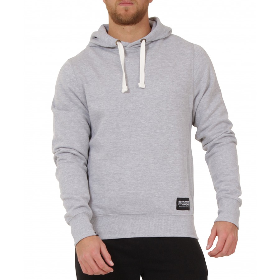 Hoodie Grey Pullover – Stickman Men's Gymwear Fitness amp; Clothing Gym - Heather