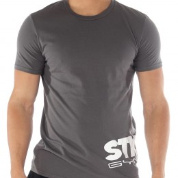 Stickman Gymwear Wraparound Logo T-Shirt - Grey